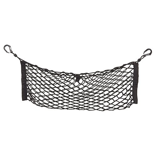 Juvale Elastic Cargo Net - Vehicle Trunk Stretchable Organizer with Hooks, Rear Mesh Net for Cars, Vans, Trucks, and SUVs - Disturb Stopper from Children and Pets - Universal, Black, 27 x 9 Inches