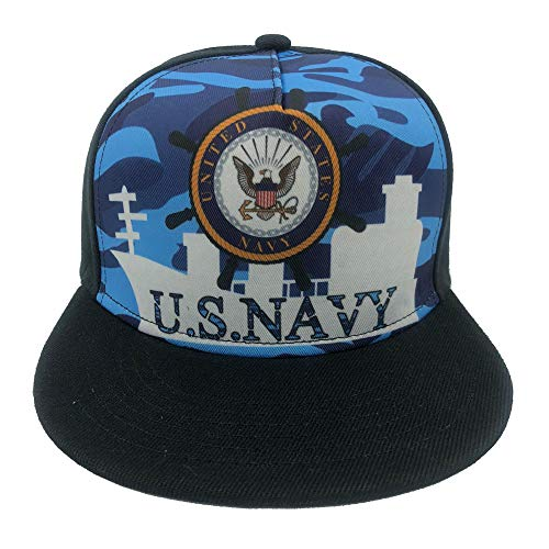 Channel Five Mens US Navy Snapback Hats for Men Adjustable Funny Fitted Flat Bill Hats