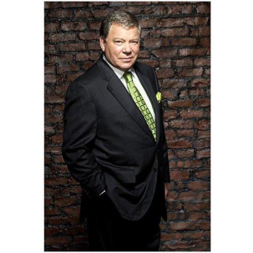 Boston Legal 8 x 10 Photo Boston Legal William Shatner/Denny Crane Grey Suit Green Tie Pose 4 kn