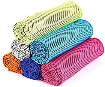 6-Pack CICN Two-Tone Quick-Drying Yoga Towel
