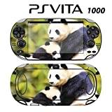 Decorative Video Game Skin Decal Cover Sticker for Sony PlayStation PS Vita (PCH-1000) - Sweet Baby Panda with Mom