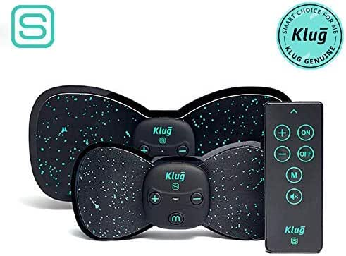 Klug Mini Massager S Duo - Wireless Low Frequency EMS with Remote Controller & Replaceable Pads | Massager for Neck, Shoulder, Foot, Wrist, Back, Thigh, Calf