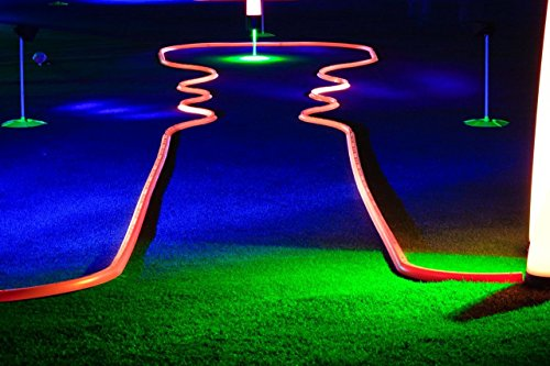 Office Golf - Cosmic Putting Mini Golf Game - Offers Unlimited Hole Design Potential - Works on Carpet or Putting Green - Glows in Black Light - Unique, Inspiring Fun (Orange)