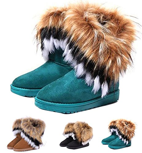 Image of NOT100 Woman Boots(Size 10 is OK) (Warm Fur) (Tassel) (10 B(M) US, Black)