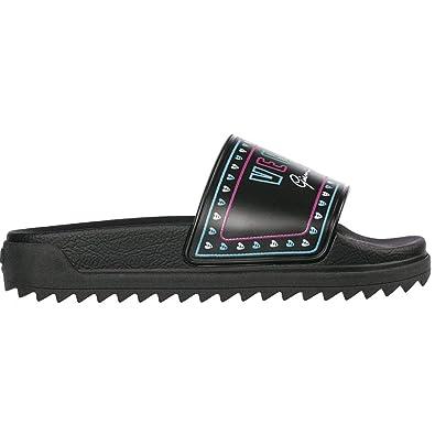 a4fcbc33722d2 Amazon.com: Versace Versus Rubber Multicoloured Logo Black Slider 6 ...