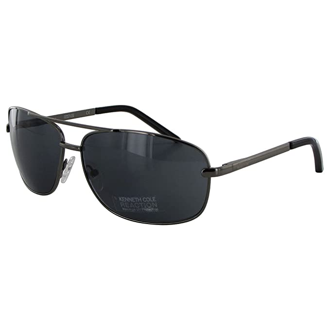 15fb52f69 Image Unavailable. Image not available for. Color: Kenneth Cole Reaction  Kcr1076-0731 Men's Aviator Gunmetal Sunglasses