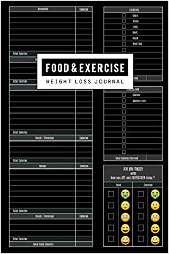 food and exercise journal fitness planner workout diet diary