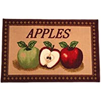 Kashi Home Mixed Apple Series Kitchen Rug 18 X 30 Rectangle Kitchen Mat with Latex Back