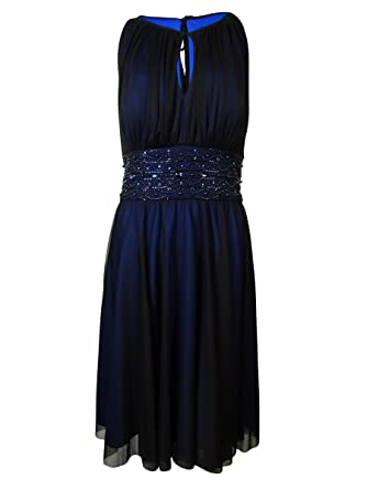 bf56eefc Amazon.com: Jessica Howard Women's Shirred Keyhole Dress: Clothing