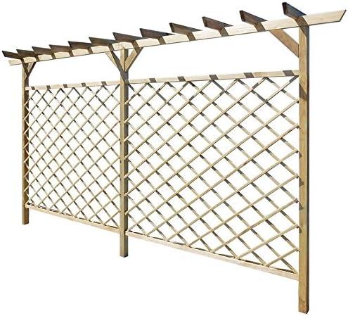 Enrejado de madera para jardín, estructura de valla de pérgola ...
