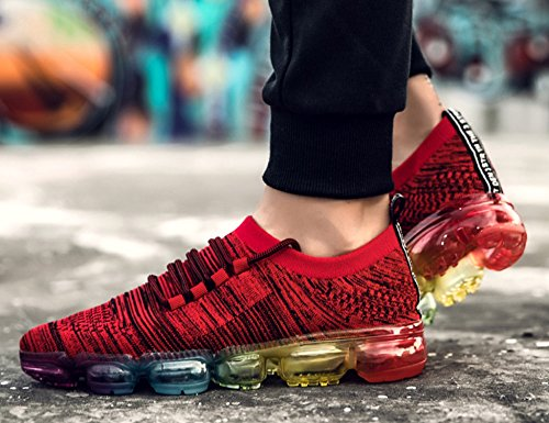 ONEAIR Homme Femme Chaussures de Multisports Outdoor Chaussure de Sport Baskets de Running Gym Fitness Course Sneakers H6021 Rouge EPm5cgJ9vT