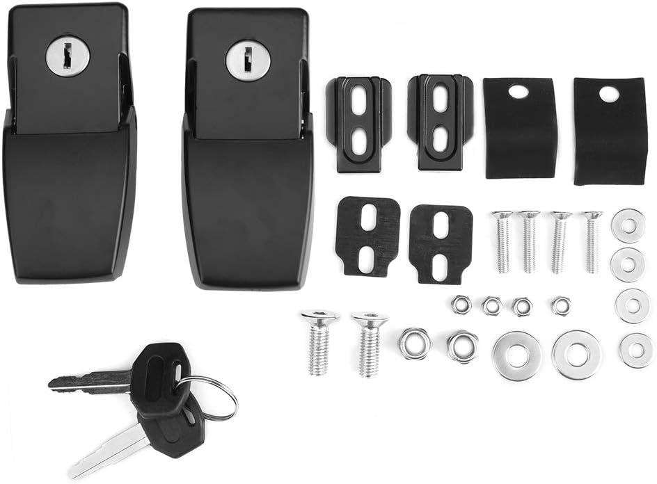 KIMISS Kits de Bloqueo antirrobo del capó del Coche con Llaves para JK 07-17