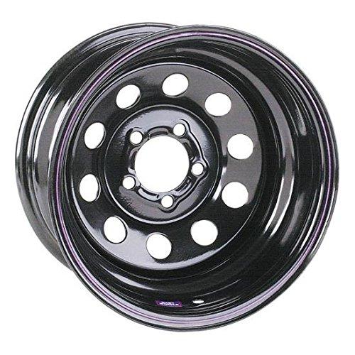 15x7 Black Circle Track Steel Wheel, 5on4.5, 2 Offset
