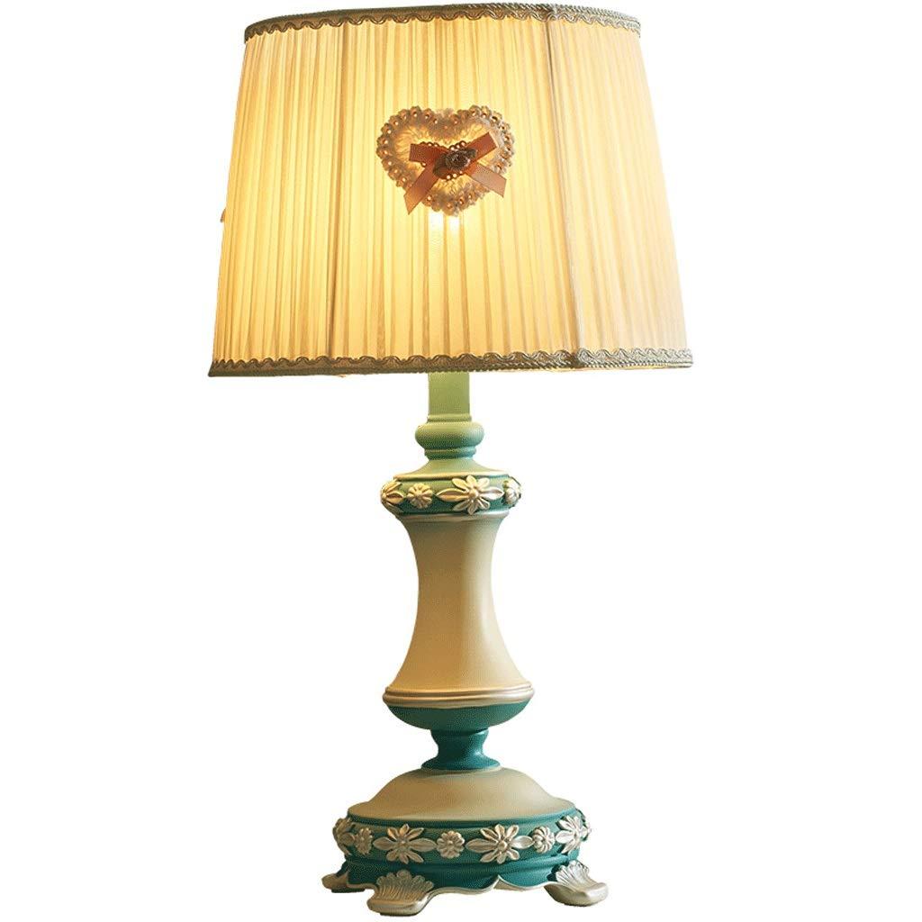 Weiyue 電気スタンド- テーブルランプの寝室のベッドの暖かい装飾的なテーブルランプ、樹脂材料、53.5 x 28.8 cm、押しボタンスイッチ (色 : 青, サイズ さいず : 53.5x28.8cm) 53.5x28.8cm 青 B07RJYQBDH
