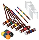 Franklin Sports Industry 3332S1/06 Intermediate 6-Player Croquet - Quantity 3
