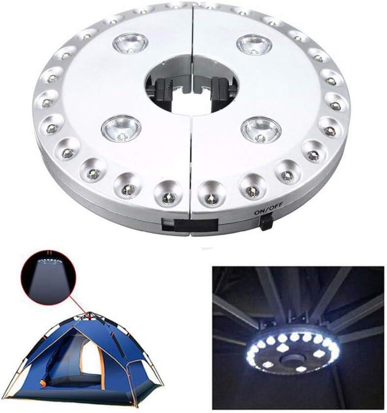 LED-Licht Terrasse Zelte Schirmstange dimmbar Camping-H/ängelampe Sonnenschirm reines wei/ßes Licht 3 Stufen Beleuchtung Txian 28 LED-Regenschirm-Lichter