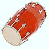 Global Art World Dholki Yoga Bhajan Kirtan Mantrared Dholak Drums 18 Bolt Tuned Made With Mango Wood MI 087