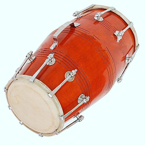 Global Art World Dholki Yoga Bhajan Kirtan Mantrared Dholak Drums 18 Bolt Tuned Made With Mango Wood MI 087 by Global Art World