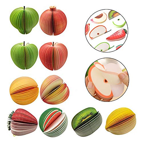 10 Styles 3D Fruit Shaped Portable Mini Notes Memo Scratch Pads Paper Notepads for Office School Holiday Gifts