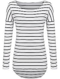 Long Sleeve Striped T Shirt Tunic Tops for Leggings for Women