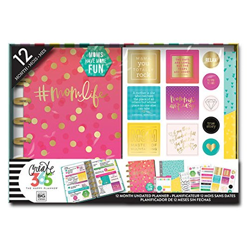Create 365 The Happy Planner Mini Box Kit, Hashtag Mom Life #MomLife, 12 months, undated