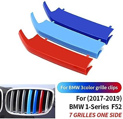 ontto 3 Colori Auto M-Sport Anteriore Griglia Coperchio Rene Strisce Clip per BM-W 1 Serie F20 F21 2012-2014 Striscia di 3D Adesivi Rene Griglia Radiatore Fibbia decorazioni-8 Griglia