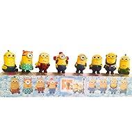 Minions Toys Party Supplies Despicable Me Action Figures | Set of 8 Miniature Minion Dolls