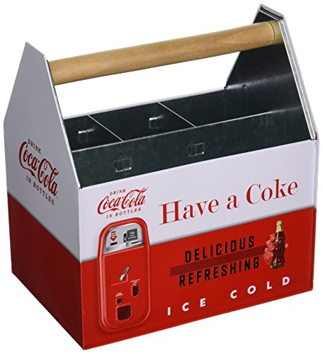 The Tin Box Company 772387-12 Coke Tin Holder (Coca Crate Wooden Cola)
