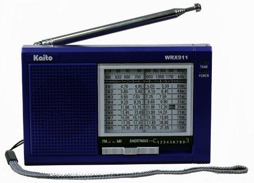 Kaito WRX-911 AM/FM Shortwave Radio, Blue (Kaito Radio Antenna)