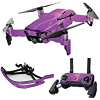 MightySkins Skin for DJI Mavic Air Drone - Purple Lightning   Max Combo Protective, Durable, and Unique Vinyl Decal wrap cover   Easy To Apply, Remove, and Change Styles   Made in the USA