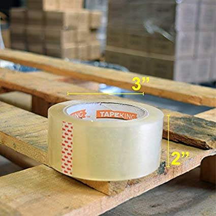 Tape King - Cinta de embalaje transparente, 3,2 mm de grosor, 60 ...