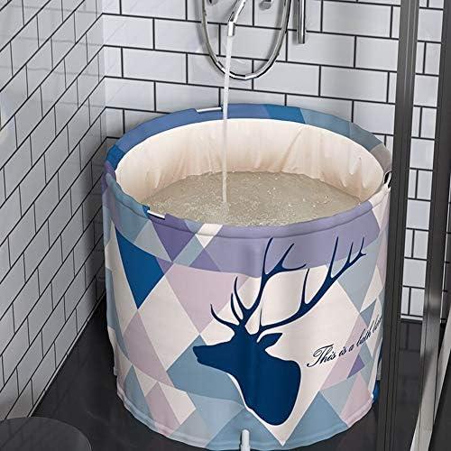 浴槽 ポータブルバースバレル折りたたみ入浴バレル大人の入浴バレルボディーアダルトバスタブ肥厚世帯70x65cm 大人用家庭用 (Color : Purple, Size : 70x65cm)