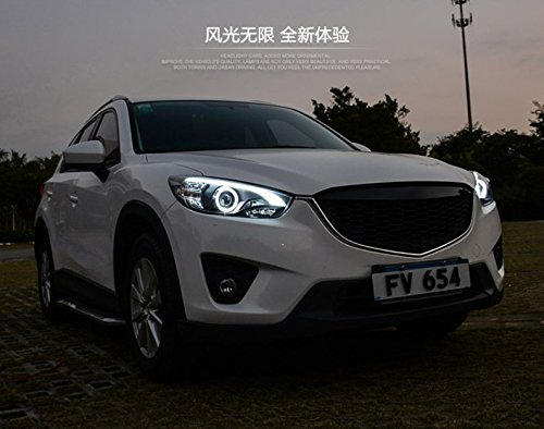GOWE Car Styling for Mazda CX-5 Headlights 2011-2015 CX5 LED Headlight DRL Bi Xenon Lens High Low Beam Parking Fog Lamp Color Temperature:4300k;Wattage:55w 2