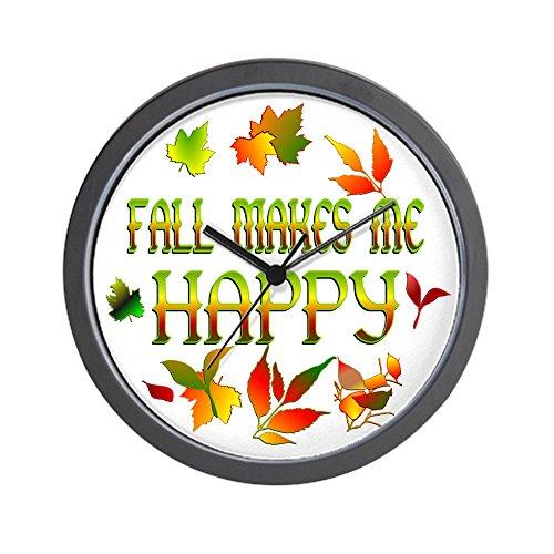CafePress - Fall Happiness Wall Clock - Unique Decorative