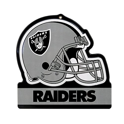 - Party Animal Oakland Raiders Embossed Metal NFL Helmet Sign, 8