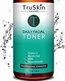 best serum for acne oily skin DAILY Facial SUPER Toner for All Skin Types, Contains Glycolic Acid, Vitamin C, Witch Hazel and Organic Anti Aging Ingredients for Sensitive Skin, Combination, Acne, and Even Oily Skin