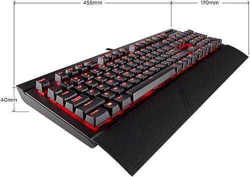Black Green Axis Esports Game Dedicated Keyboard//Waterproof Splash Dust USB Interface Mechanical Keyboard Keyboard Backlit Mechanical Keyboard 104 Key BLWX Color : Red