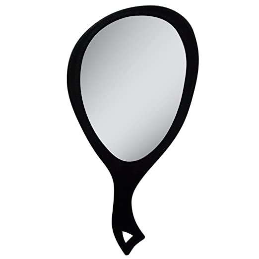 Zadro Teardrop Hand Mirror, Large, Black