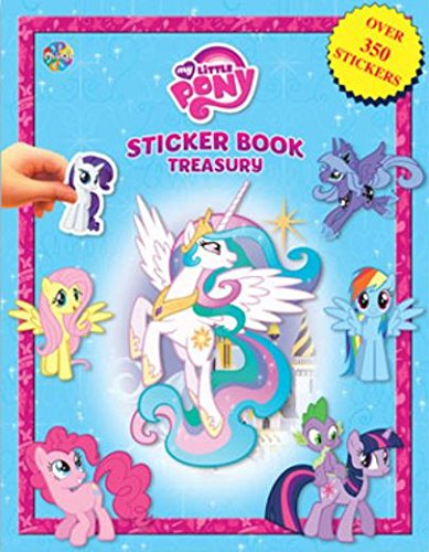 My Little Pony Friendship is Magic Sticker Book Treasury ~ 6 Books in 1 with Over 350 Stickers! (Best My Little Pony Drawing Tablets)