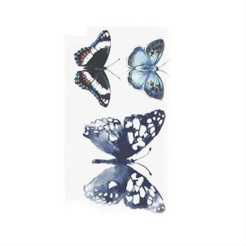 JIA Nuevo pájaro mariposa flor temporal mujeres hombres tatuaje ...