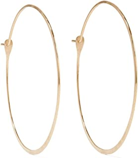 product image for Melissa Joy Manning 1.25 Inch Extra Large Round 14k Gold Hoop Earrings