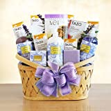 Relaxing Lavender Spa Gift Basket for Women - Deluxe Version