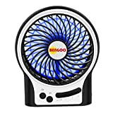 Image of BENGOO Fan Portable USB Fan Mini Desktop Desk Table Electric Rechargeable Fan for laptop room office outdoor travel