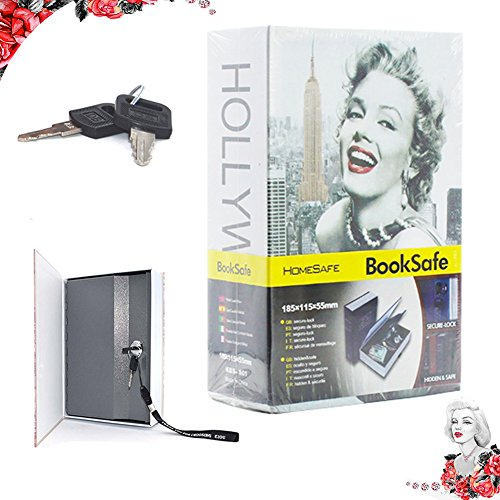 Book Safes with Lock and Key EIOU Marilyn Monroe Security Diversion Hidden Book Safe