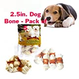 Alpha Dog Series Chicken Rawhide Bones 2.5 Inch -4oz (Pack of 5)