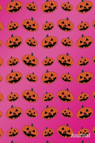 Journal: Pink pumpkin jack o lantern notebook -