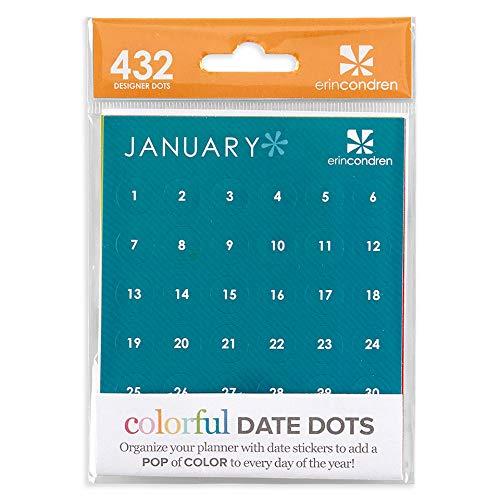 Erin Condren Colorful Date Dots Acc-Date