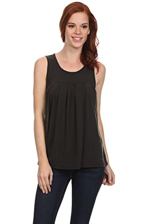01a07238787bf0 Fashion Cafe Women s Organic Fabric Baby-Doll Scoop Neck Top at ...