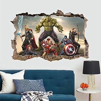 Adhesivo Decorativo para Pared Vercico 3D Avengers Endgame style1 dise/ño de Superheros Pegatinas de pared