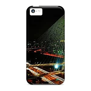 Iphone 5c Case Cover - Slim Fit Tpu Protector Shock Absorbent Case (night Sao Paulo)